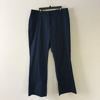 NWT Petite Sophisticate Navy Bootcut Pants Size 12P
