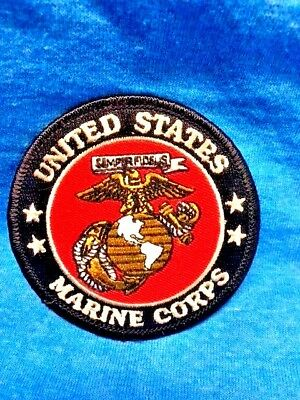 USMC Seal of US MARINE CORPS PATCH- IRON ON / SEW ON - 3'' ROUND