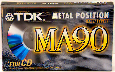 TDK MA90 Blank Metal Position Compact Cassette Tape NEW SEALED