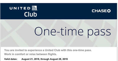 United Airlines Club Lounge Pass