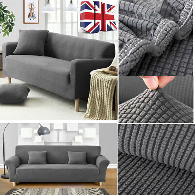 1/2/3 Seater Elastic Fabric Settee Sofa Couch Protector Slipcover Stretch Covers