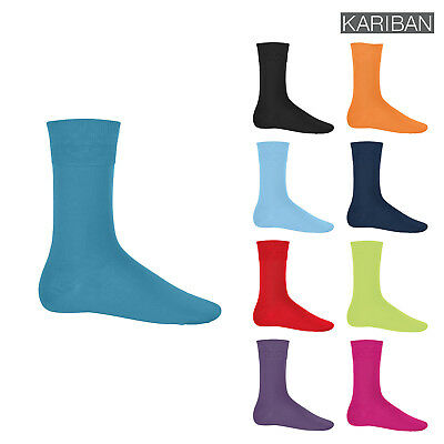 Kariban Unisex Cotton City Comfortable Socks (K813) - Full Leg Length Anklets