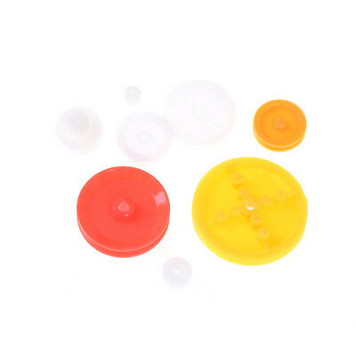 7Pcs Motor Synchronous Belt Plastic Pulley Wheel For Diy Toy Car Accessories s/