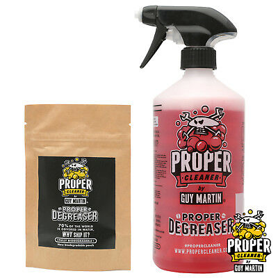 Guy Martin Proper Degreaser - Trigger Bottle & 2x 750ml Refill Capsules
