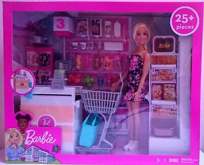Barbie Supermarket Playset | Doll with 25 Pieces