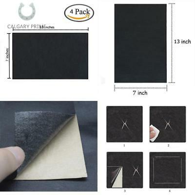 Blk 2 Pcs Leather Patch Adhesive Backing Repair Sofa,Car Seat,Jackets 13X7in
