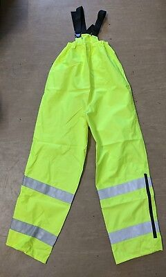 NEW Ex Police Issue Foul Weather Hi Visibility Over Trousers ALL SIZES