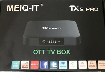 Smart Box Tv Box Tx5 Pro 4 K Wifi 1080P Android 7.1 Quad Core 2 Gb