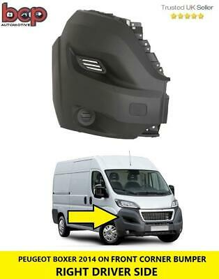 PEUGEOT BOXER 2014-2017 FRONT BUMPER CORNER RIGHT LWB WITH MOULDING NO FOG HOLE