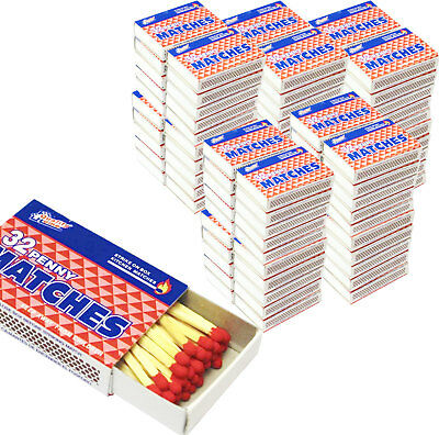 10 Packs Matches 32 count Strike on Box Kitchen Camping Fire Starter