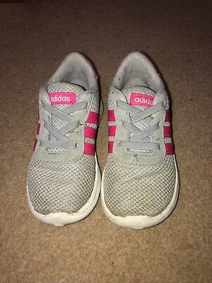 5dce99d3b GIRLS ADIDAS TRAINERS Pink And Grey. Infant Size 7. EU size 24 ...