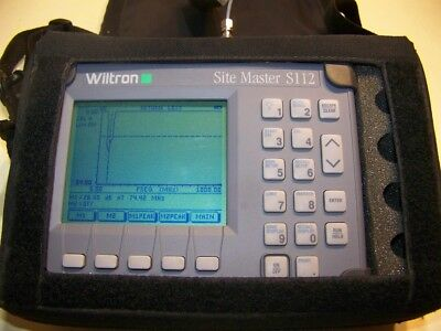 Wiltron S112 Site Master 5-1000MHz + case, new Battery,new Charger Fully Tested!