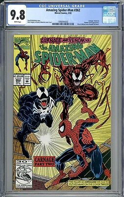 AMAZING SPIDER-MAN 362  CGC 9.8   2nd Carnage App  Venom 1992 Marvel