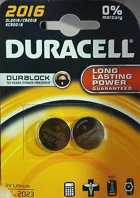 (BUY 2 SETS GET 1 FREE)  2 x Duracell CR2016 3v Lithium Coin Cell Button Battery