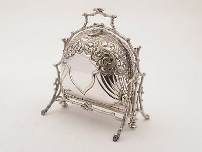 Victorian Silver Plated Folding Biscuit Box, Circa 1890
