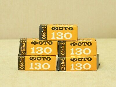 B/W negative Foto-130 roll film, 120 print, 5 pcs, Svema, expired, lomography