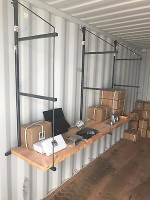 Cargo Container Shelving Brackets - Sold in Pairs -  Super Easy Installation !