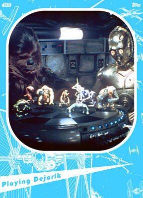 Topps Star Wars Card Trader Marathons 2019 A New Hope #2 BLUE Playing Dejarik
