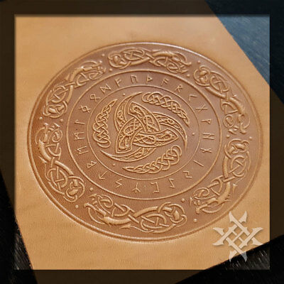 Celtic style embossing plate. Various Sizes. For Stamping Veg Tan Leather