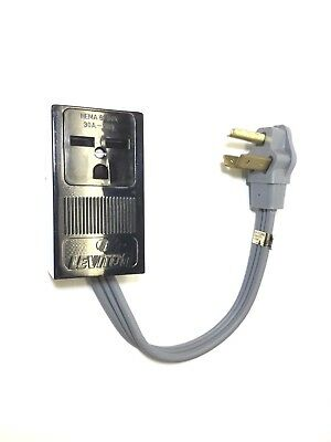 WELDER 3PRONG NEMA 6-30R RECEPTACLE to 3PIN 10-30P DRYER PLUG POWER CORD ADAPTER