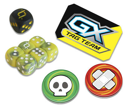 POKEMON TEAM UP - Dice / Gx Marker / Poison & Burn Counter - Pack Elite  Trainer
