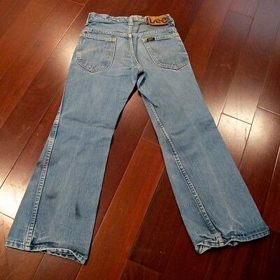 VINTAGE ORIGINAL LEE RIDERS JEANS KID SIZE 9 LEATHER JERKY TAG 1960s