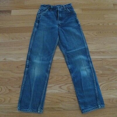VINTAGE ORIGINAL DENIM JEAN PANTS MAVERICK BLUE BELL KIDS SIZE 12 1960's
