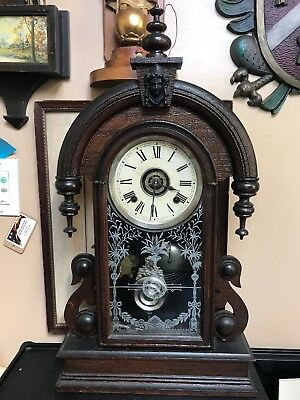 "Antique Ansonia "" Parisian""Table/Mantle Clock. Works For A Short Time Then Stops"