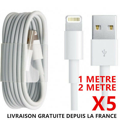CABLE CHARGEUR USB 1 et 2 METRES IPHONE 6 6S 7 8 Plus XR X XS Max 11 Pro 5S SYNC