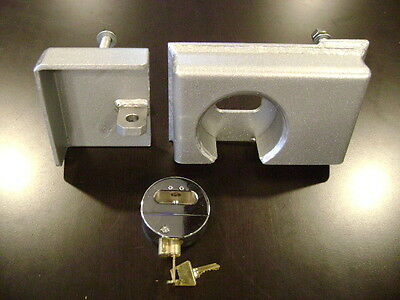 LOT OF 8 HD Bolt on Shipping Container Security Lock Box & Template W/ FREE LOCK