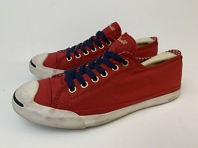 62ce38d2441c Converse Jack Purcell Low Top Red White Sneakers Womens Sz 8 Fashion Shoes