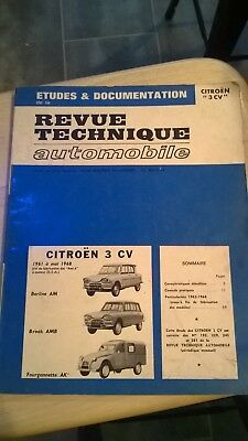 Revue Technique Automobile Citroen 3 cv Berlines et Breaks + 2cv Fourgonnette AK