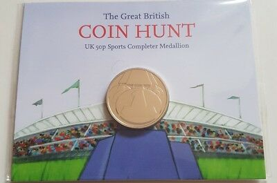 London Olympic 2012 50p The Great British Coin Hunt Completer Medallion Sealed