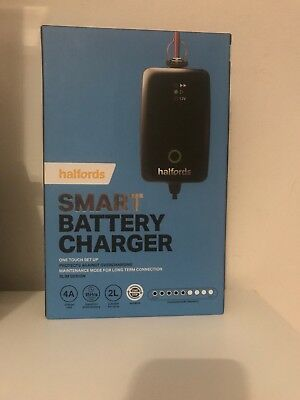 Brand New Halfords Smart Battery Charger One Touch Set Up