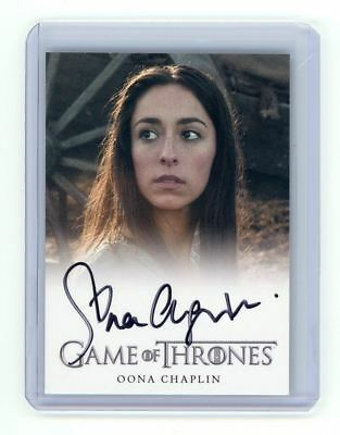 Game of Thrones Season 3 Oona Chaplin as Talisa Maegyr Auto Autograph