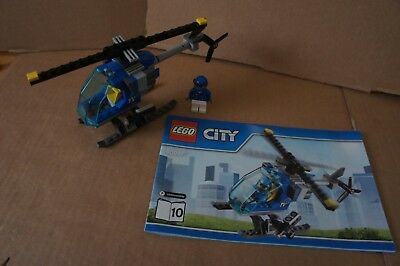 NEW LEGO HELICOPTER with Minifigure 60097 City Square Pilot TV Chopper