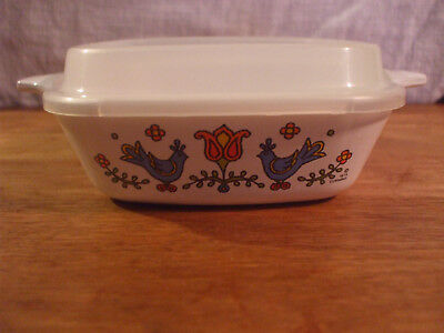 Corning Ware Country Festival Petite Pan Casserole P-41-B 1 3/4 Cup Lid