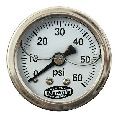 MANOMETRO - OIL PRESSURE GAUGE 60 psi - MARLIN'S PARTS - Listino € 43,50