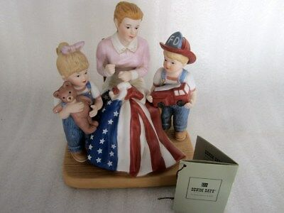 Home Interiors Denim Days Sweet Land of Liberty 15357-04 with Tag HOMCO