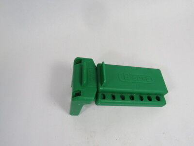 "North BS01G Green Lockout for Ball Valve for Size 3/8-1-1/4""  USED"