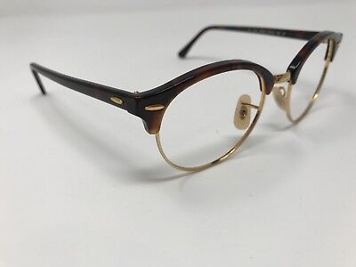 003d1adb41e Ray-Ban RB 4246 990 Clubround Tortoise Gold Sunglasses Frame Only 51mm LL80