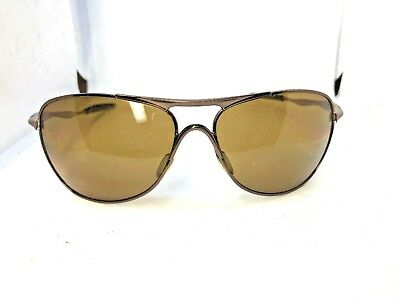 a7fa27fa4e4 OAKLEY OO4060-04 CROSSHAIR Brown Chrome Bronze Polarized Sunglasses ...