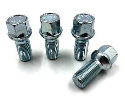 4 x ALLOY WHEEL BOLTS RADIUS FOR AUDI SEAT VW M14 x 1.5 27MM NUTS LUGS STUDS [6]