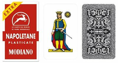Modiano 97/25 Italian Napoletane Red Playing Cards - 1 deck