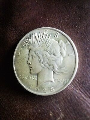 1923 Peace Silver Dollar, Circulated, VG Nice Details, Look!