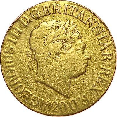 George III 1820 Sovereign  #1219