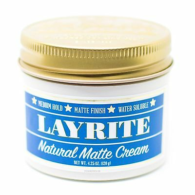 Layrite Natural Matte Cream Pomade 4.25 Oz.