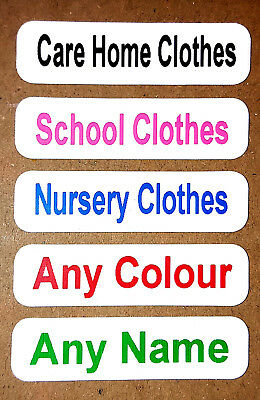 22 Printed Iron On Care Home Labels Nursery School Tags Clothes Personalised Tag