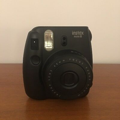fuji instax mini 8 camera With 4 Packs Of Expired Instant Film Black