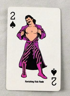 Rick Rude Spades Playing Card WWF Wrestling Collector Coliseum WWE 1988
